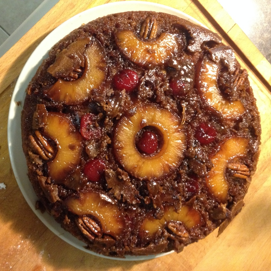 a cake of the mondays: pineapple upside down cake…